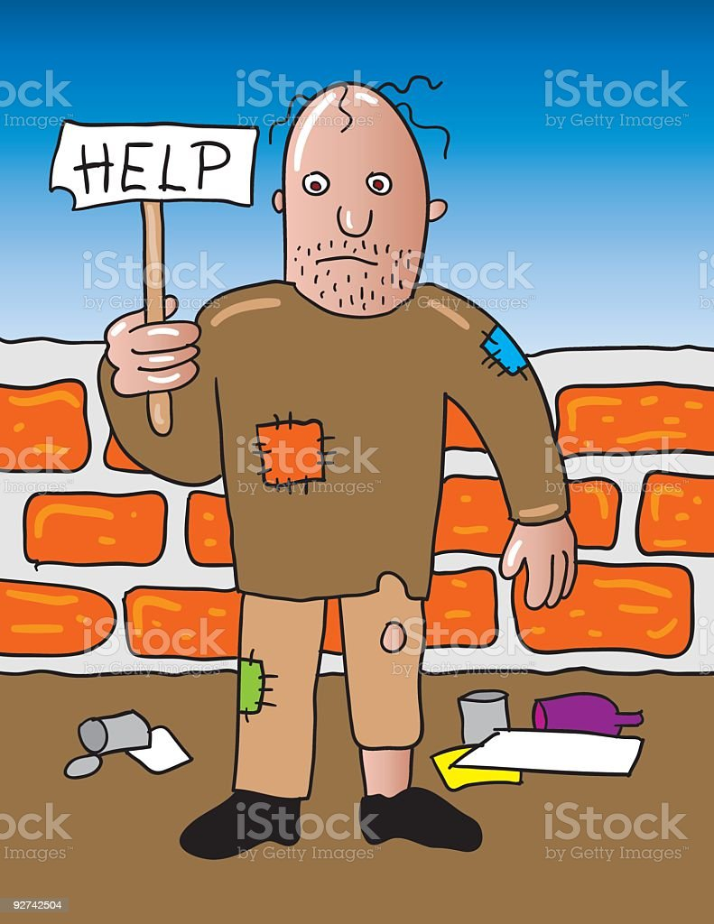 homeless help royalty-free stock vector art