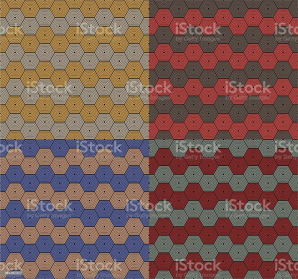Honeycomb pattern vector art illustration