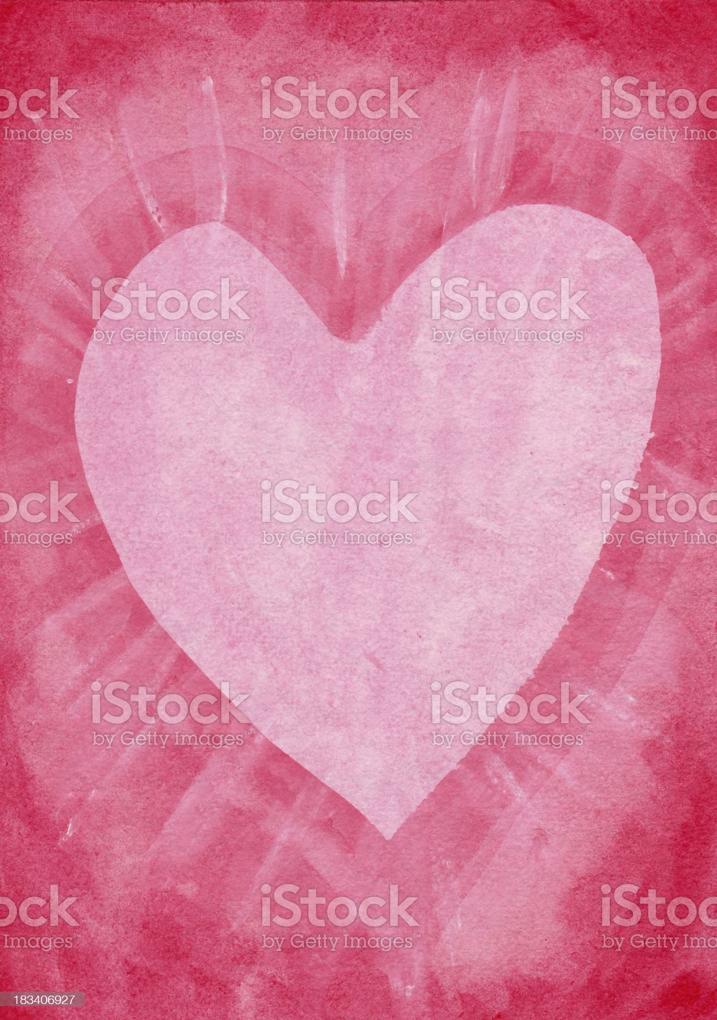 Honeysuckle heart painting royalty-free stock vector art