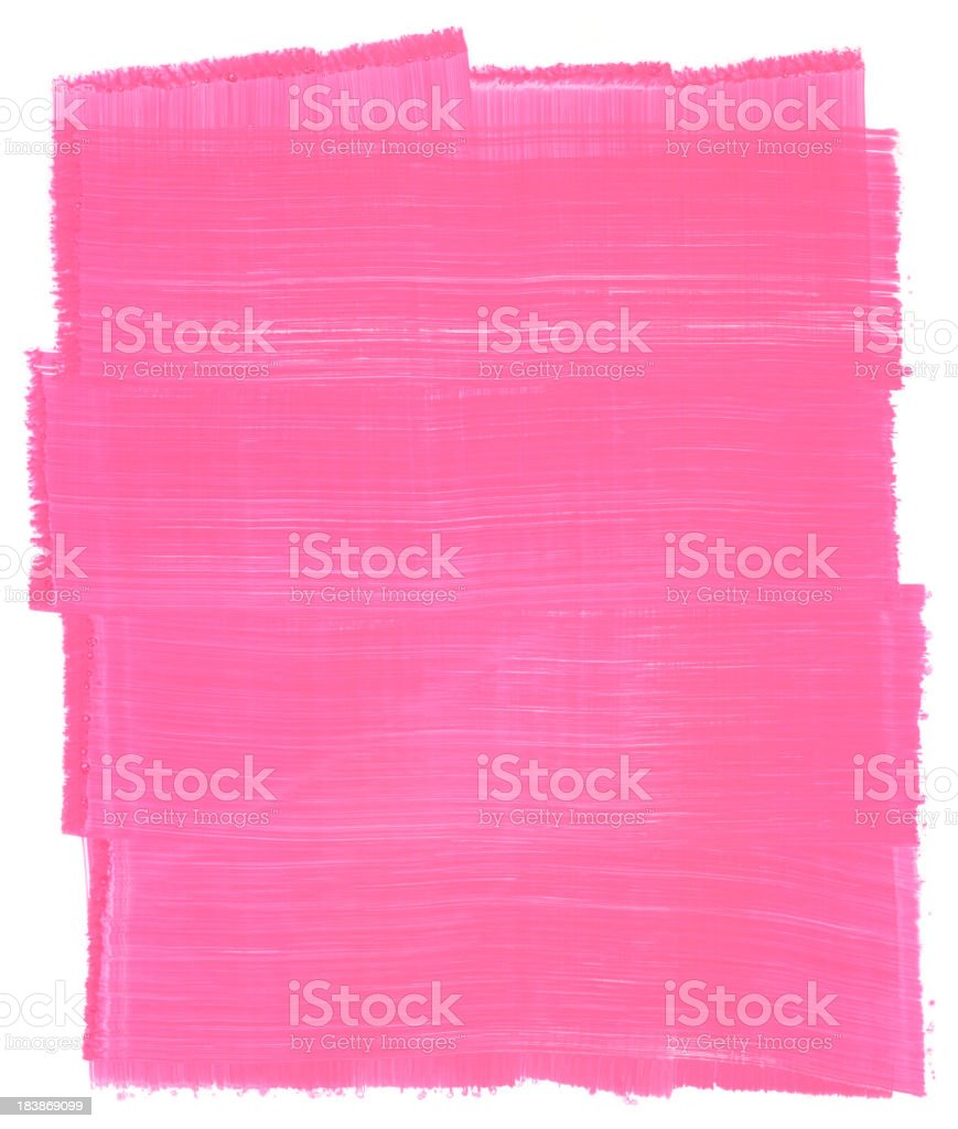 Honeysuckle Pink Painted Brush Texture Frame vector art illustration