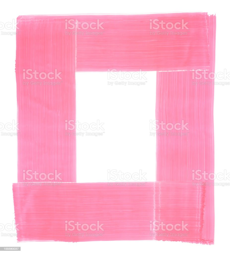 Honeysuckle Pink Painted Rectangular Frame Texture royalty-free stock vector art