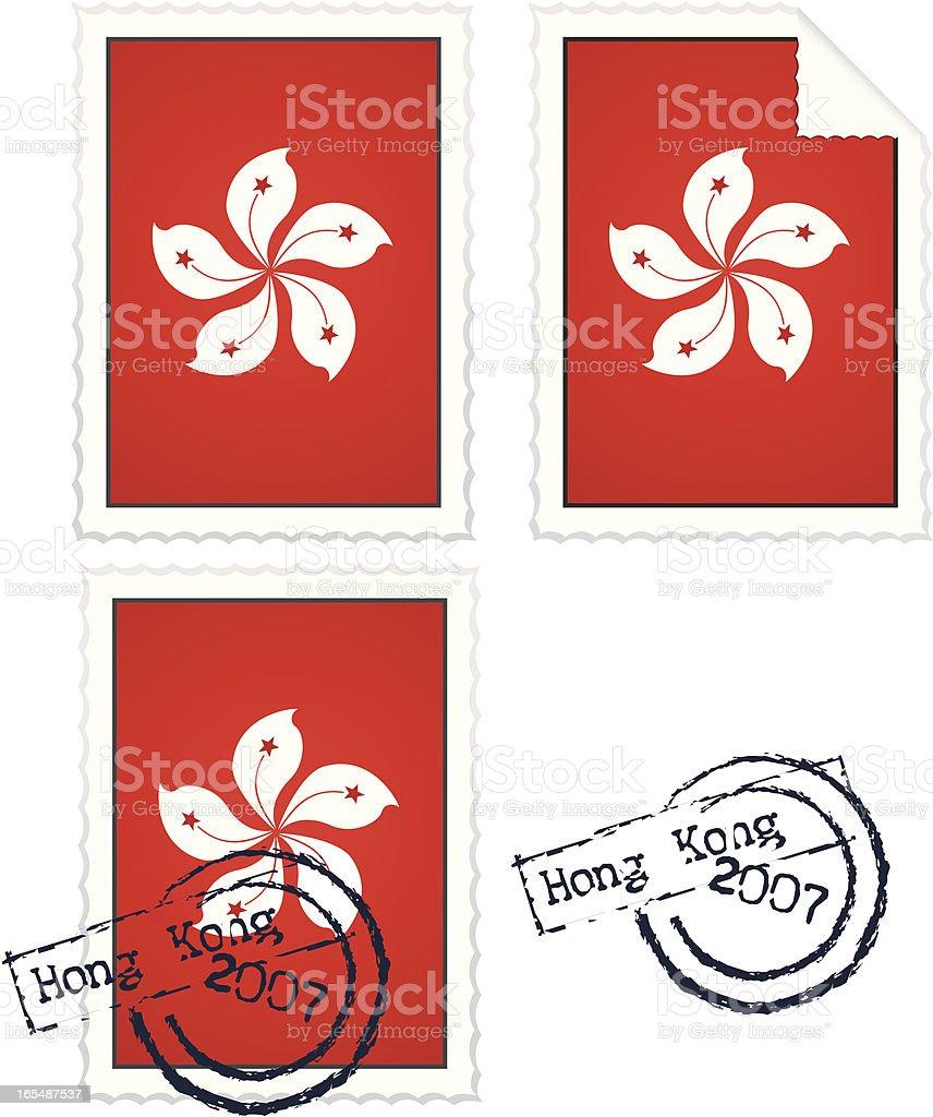 Hong Kong Stamps royalty-free stock vector art