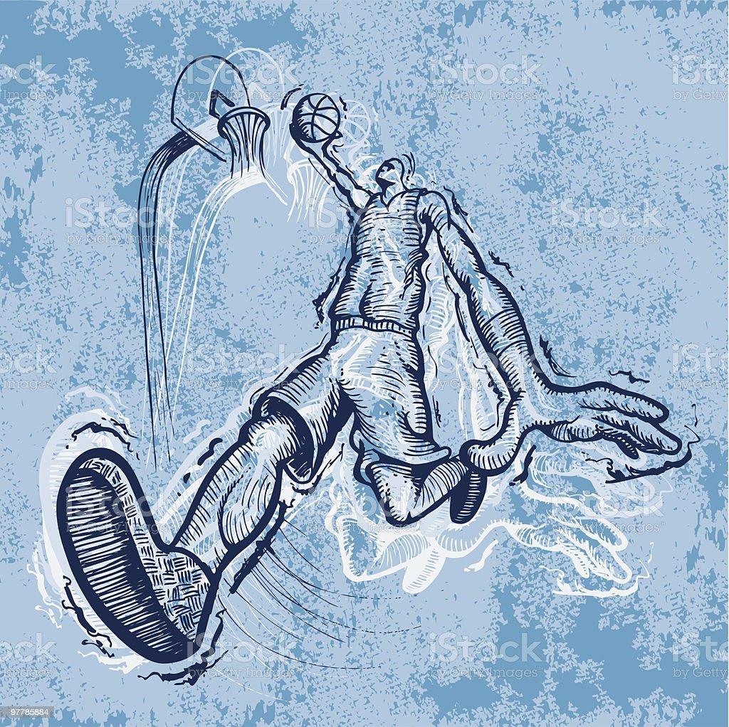 Hoop Dreams vector art illustration