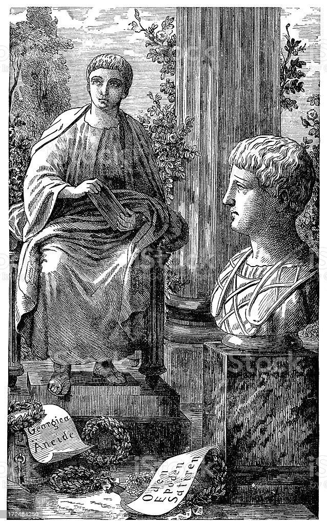 Horace And Virgil vector art illustration