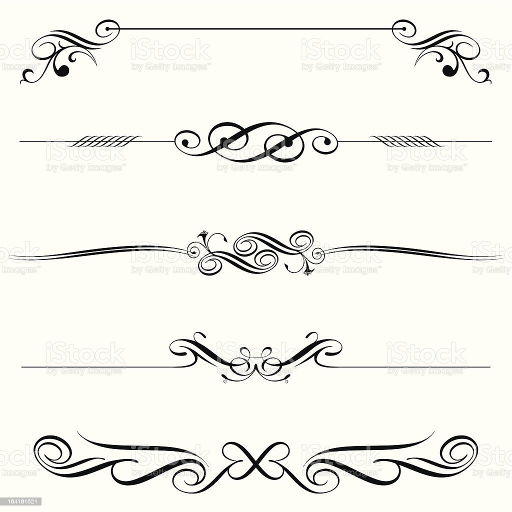 horizontal elements decoration royalty-free stock vector art