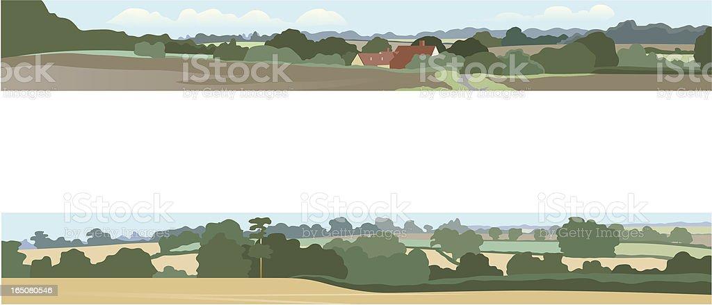 Horizontal landscapes royalty-free stock vector art