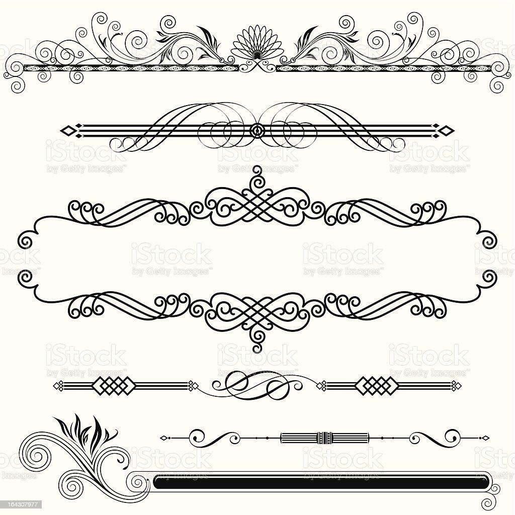 Horizontal Ornamental vector art illustration
