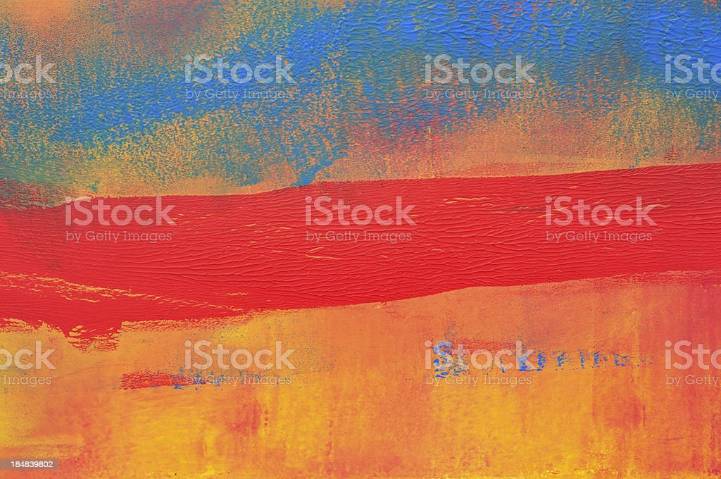 Horizontal red stripe vector art illustration