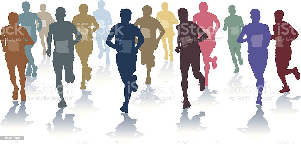 Horizontal runners colour royalty-free stock vector art
