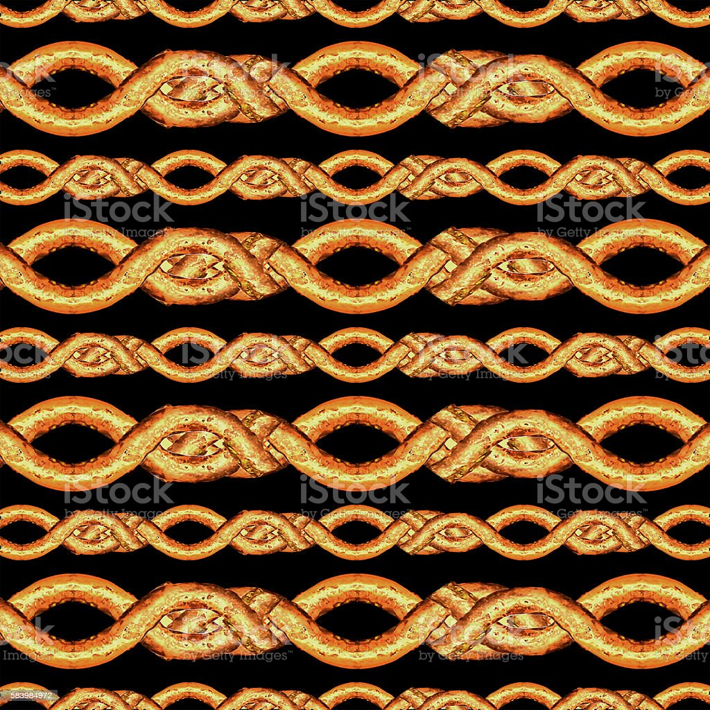 Horizontal Stripes Lace Seamless Pattern vector art illustration