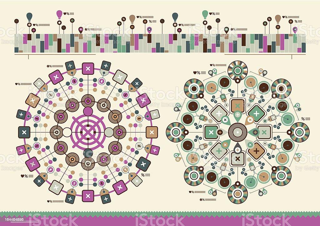 horizontal vector infographics royalty-free stock vector art