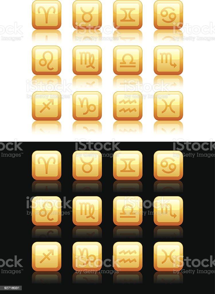 Horoscope icons 01 royalty-free stock vector art