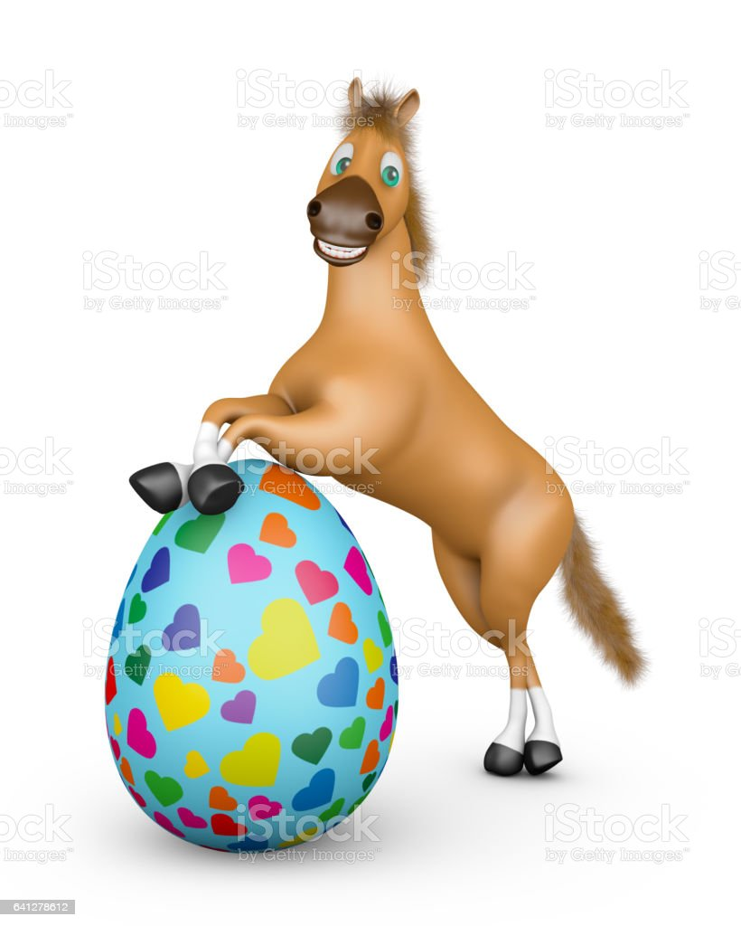 clipart easter horse
