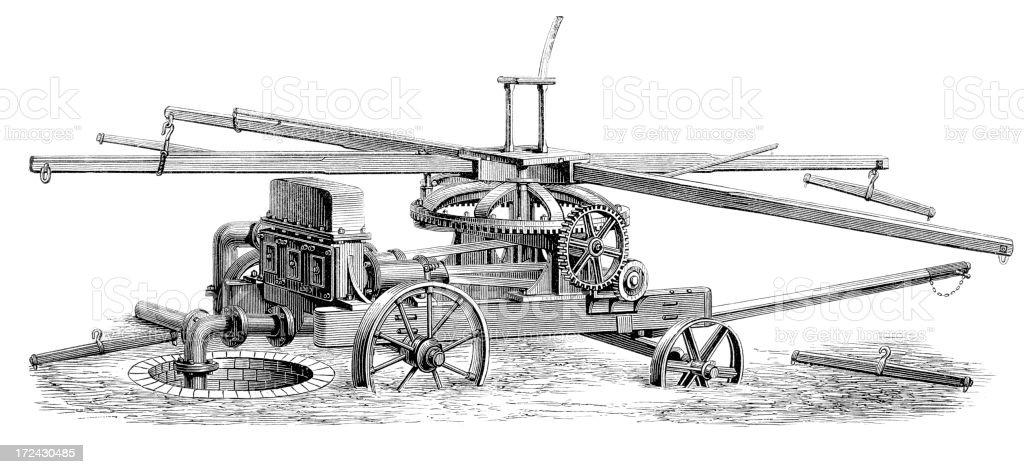 Horse Powdered Pump vector art illustration