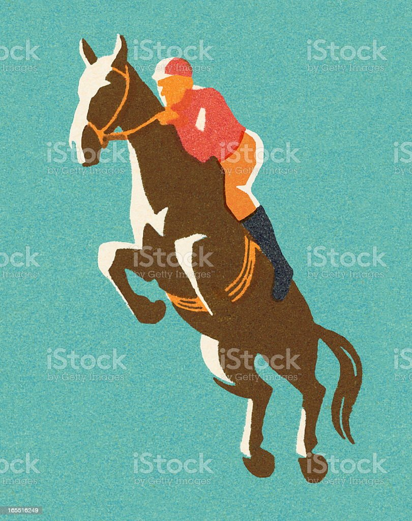 Horse Racer vector art illustration