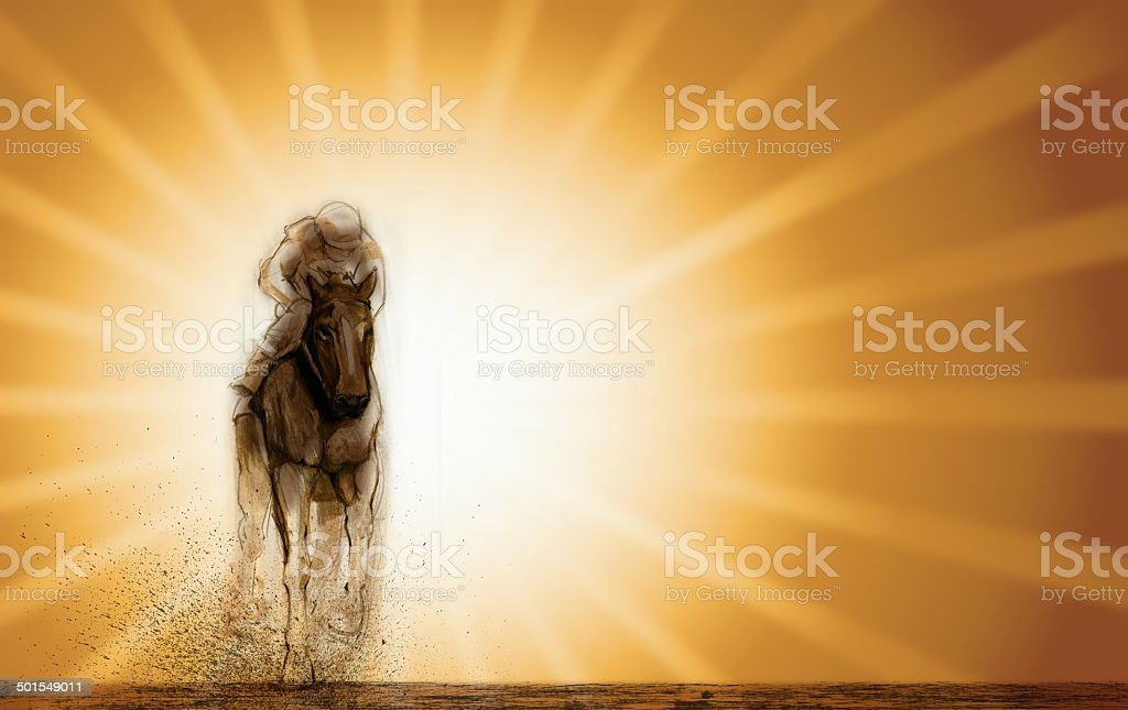 Horse Racing Background vector art illustration