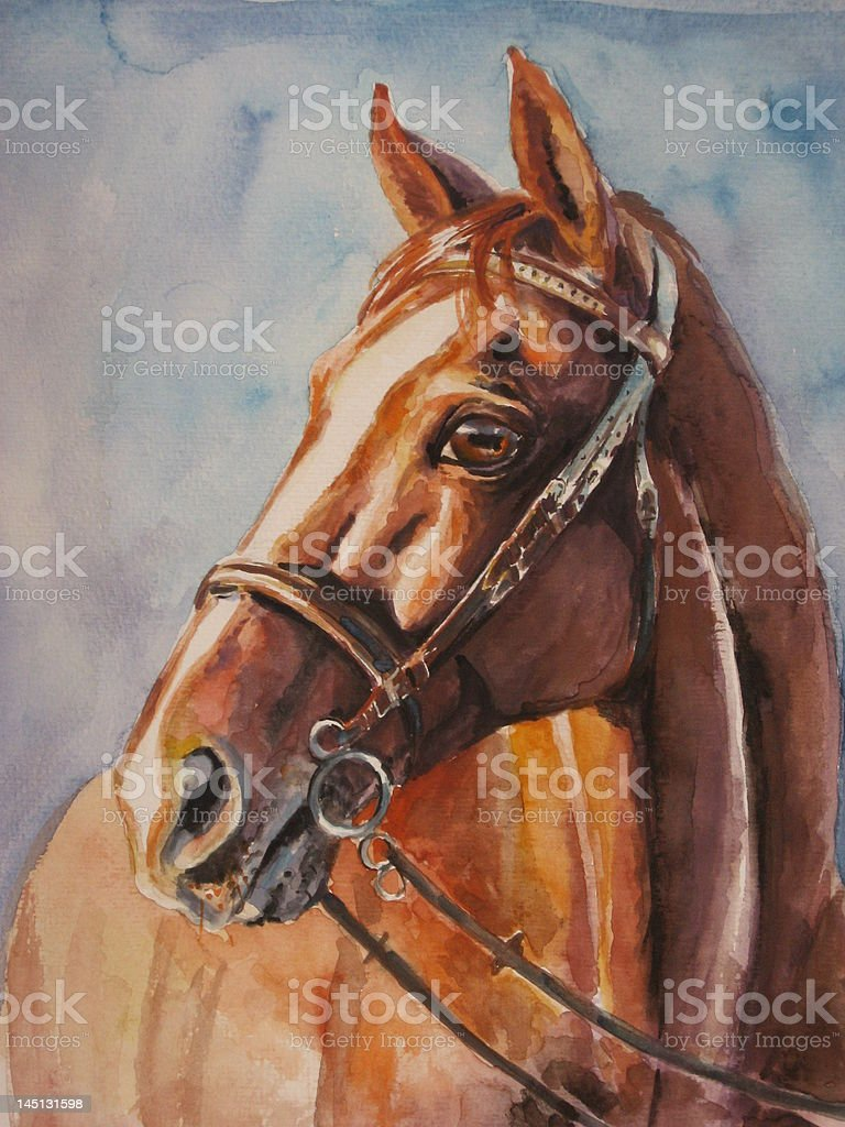 Horse with harnes royalty-free stock vector art