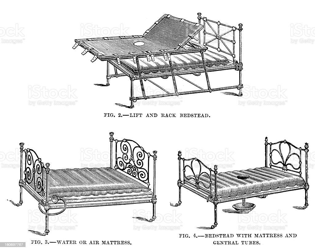 Hospital Beds royalty-free stock vector art