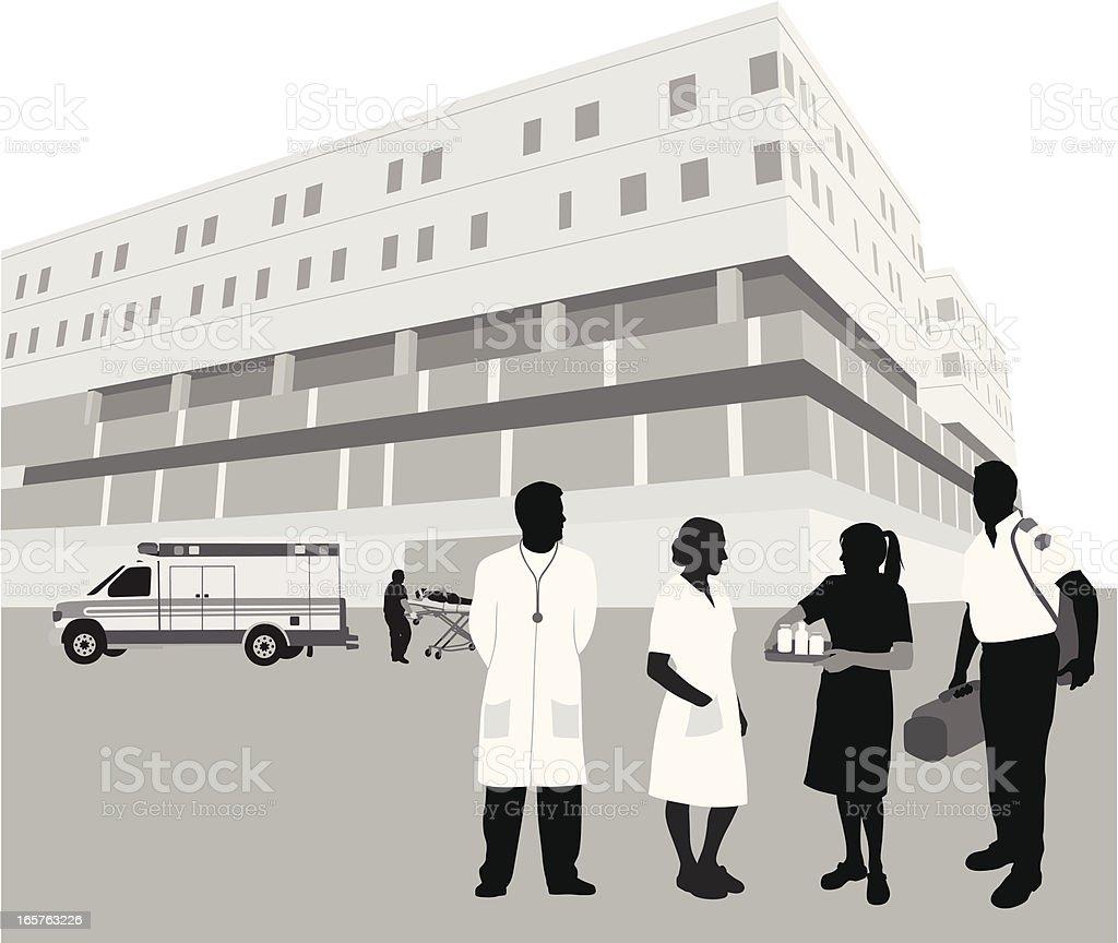 Hospital'n Staff Vector Silhouette royalty-free stock vector art