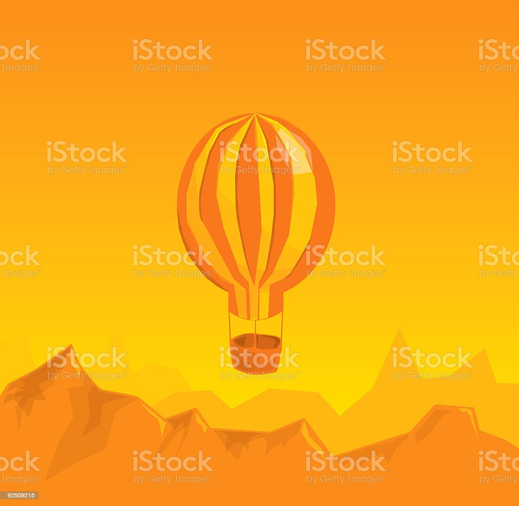 Hot Air Balloon vector art illustration