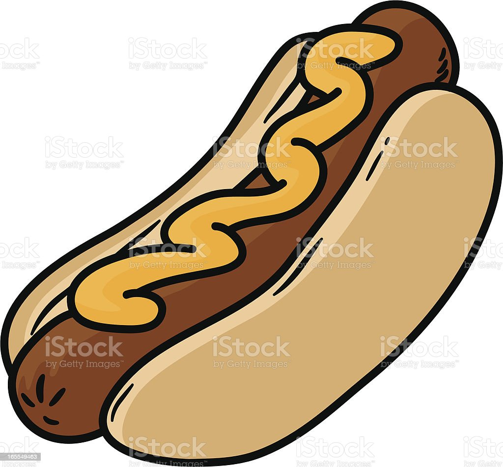 hot dog royalty-free stock vector art