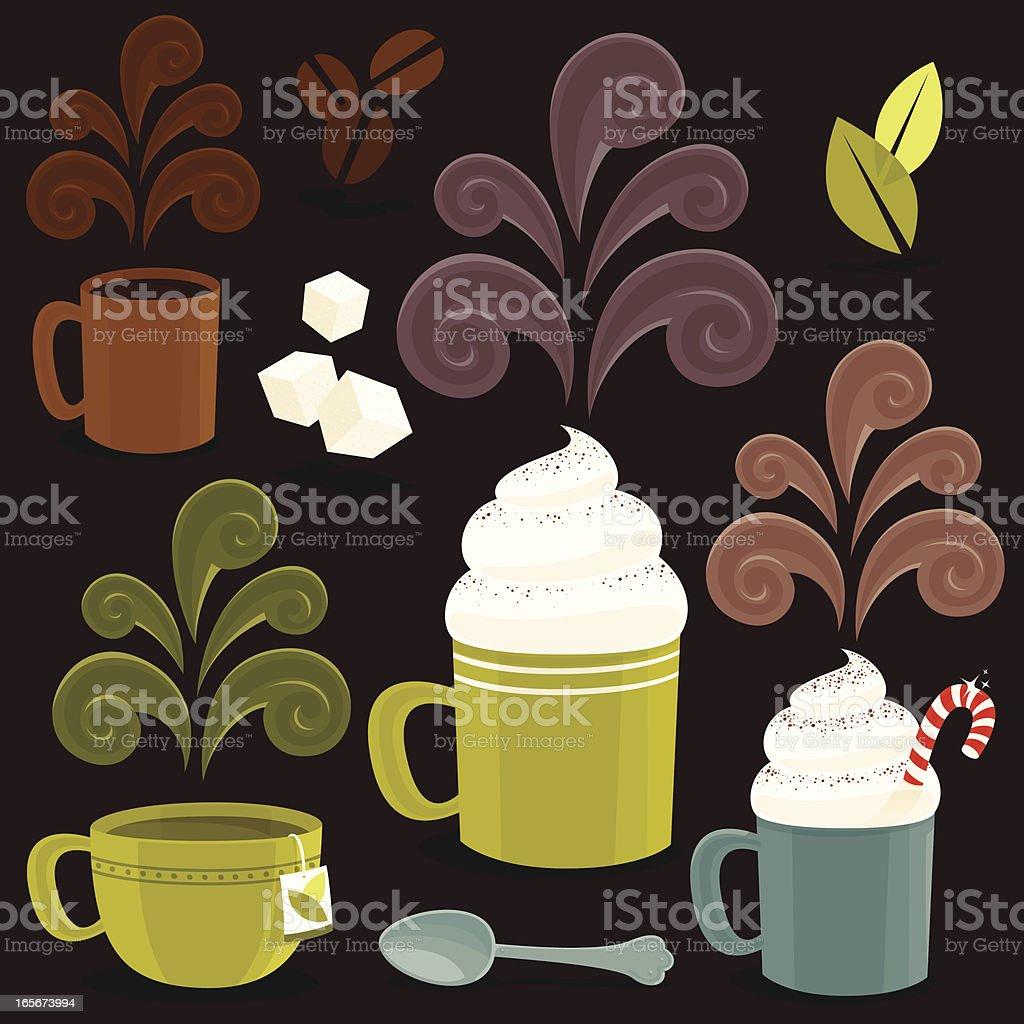 Hot Drink icons vector art illustration
