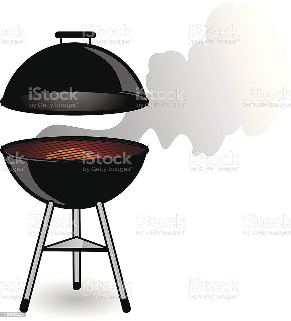 hot grill vector art illustration