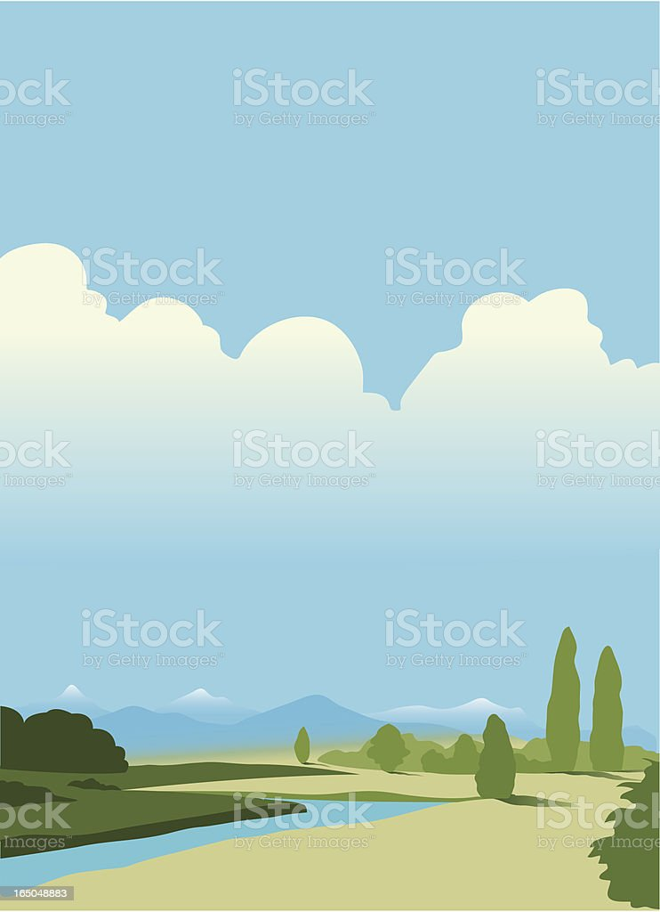 Hot landscape royalty-free stock vector art