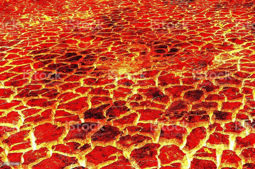 hot lava vector art illustration