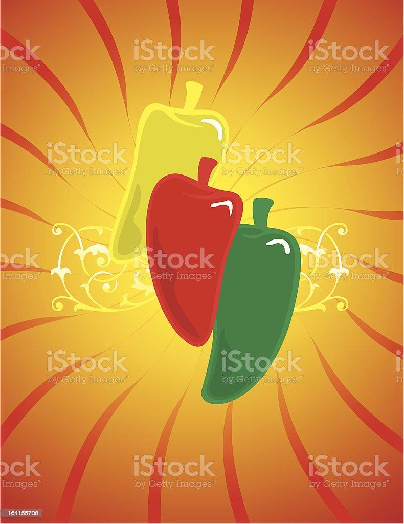 Hot Pepper royalty-free stock vector art