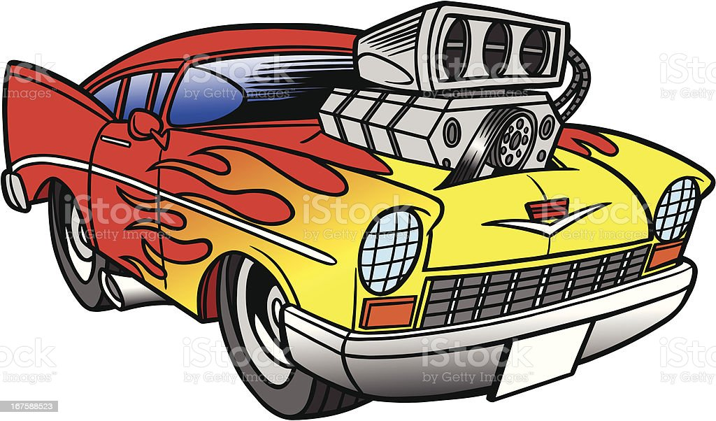 Hot Rod vector art illustration