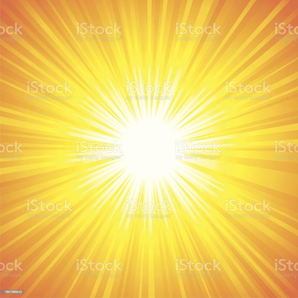 Hot sunburst background royalty-free stock vector art