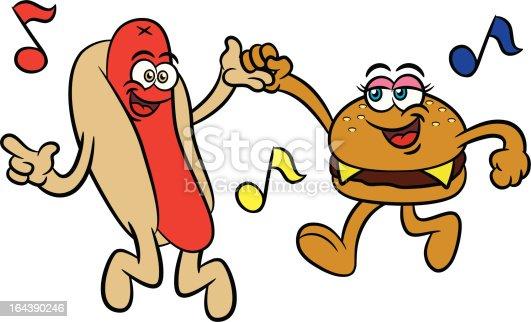 Dancing Hot Dog Clipart