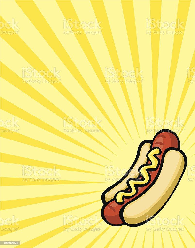 hotdog burst vector art illustration