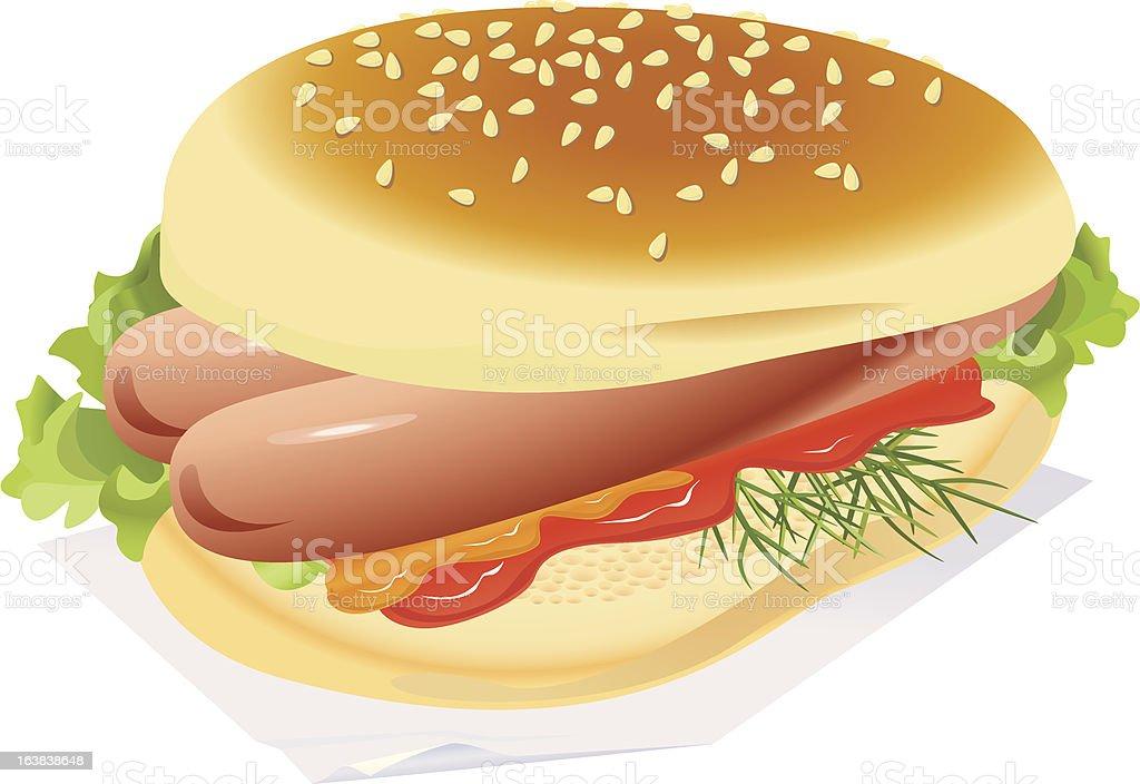 Hotdog royalty-free stock vector art