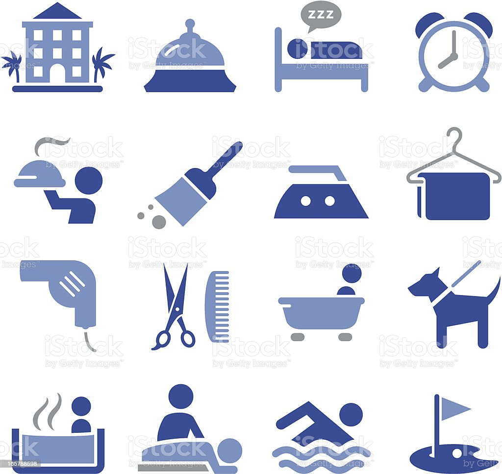 Hotel Icons - Pro Series vector art illustration