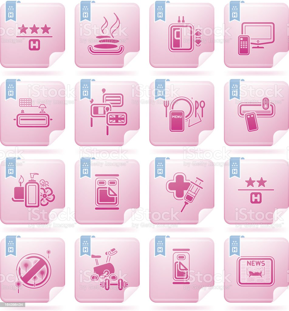 Hotel Related Icons royalty-free stock vector art