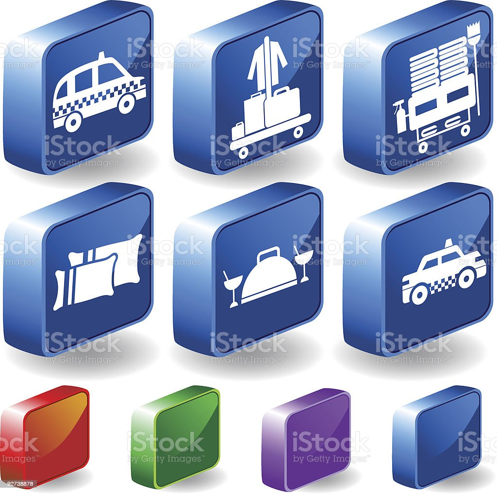 Hotel Services royalty-free stock vector art