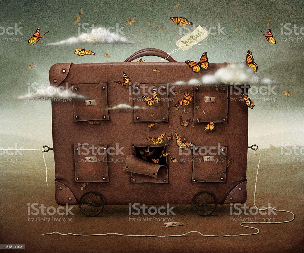 Hotel Suitcase vector art illustration