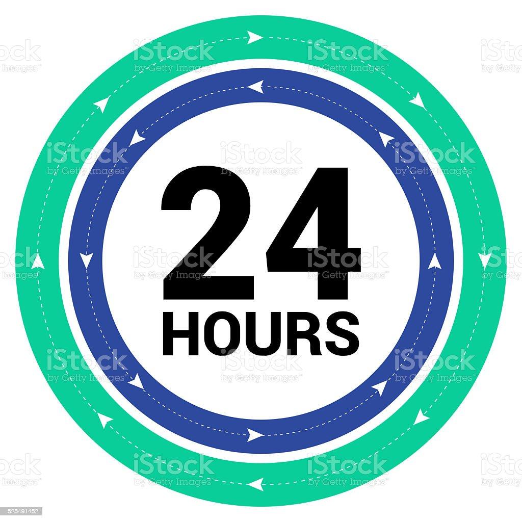 24/7 hour Service vector art illustration