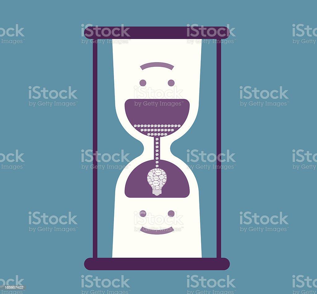 HourGlass Concept vector art illustration