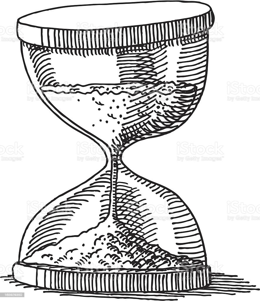 Hourglass Drawing royalty-free stock vector art