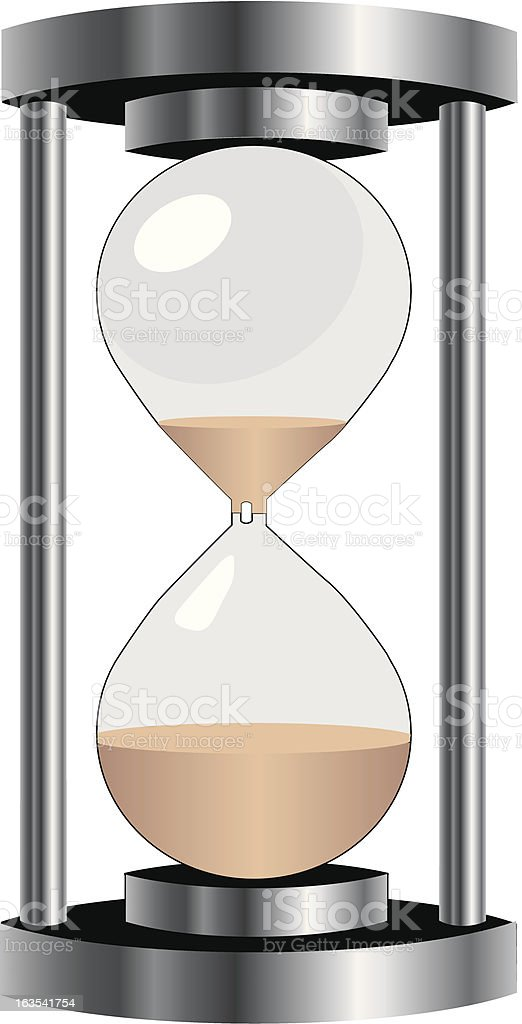 Hourglass royalty-free stock vector art