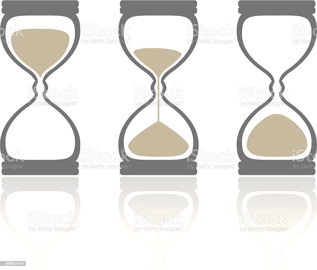 hourglass' vector art illustration