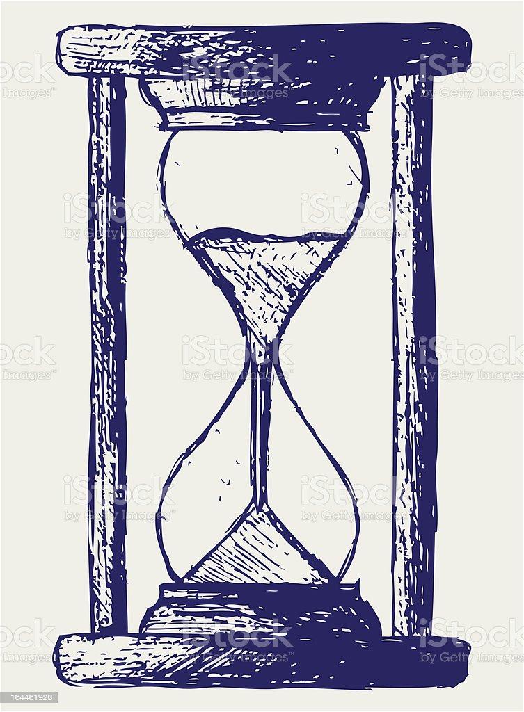 Sanduhr bleistiftzeichnung  Das Sanduhr Skizze Vektor Illustration 164461928 | iStock