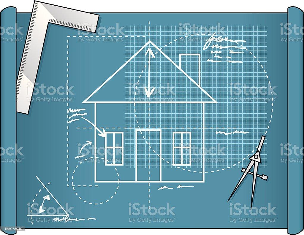 house blueprint royalty-free stock vector art