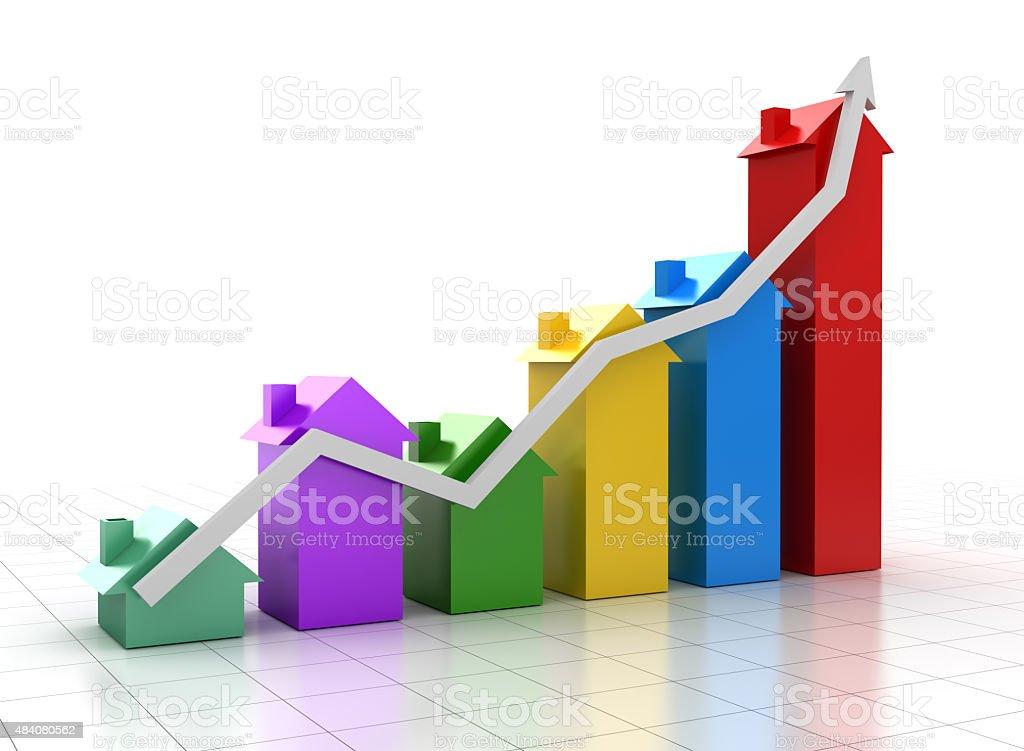 House chart vector art illustration