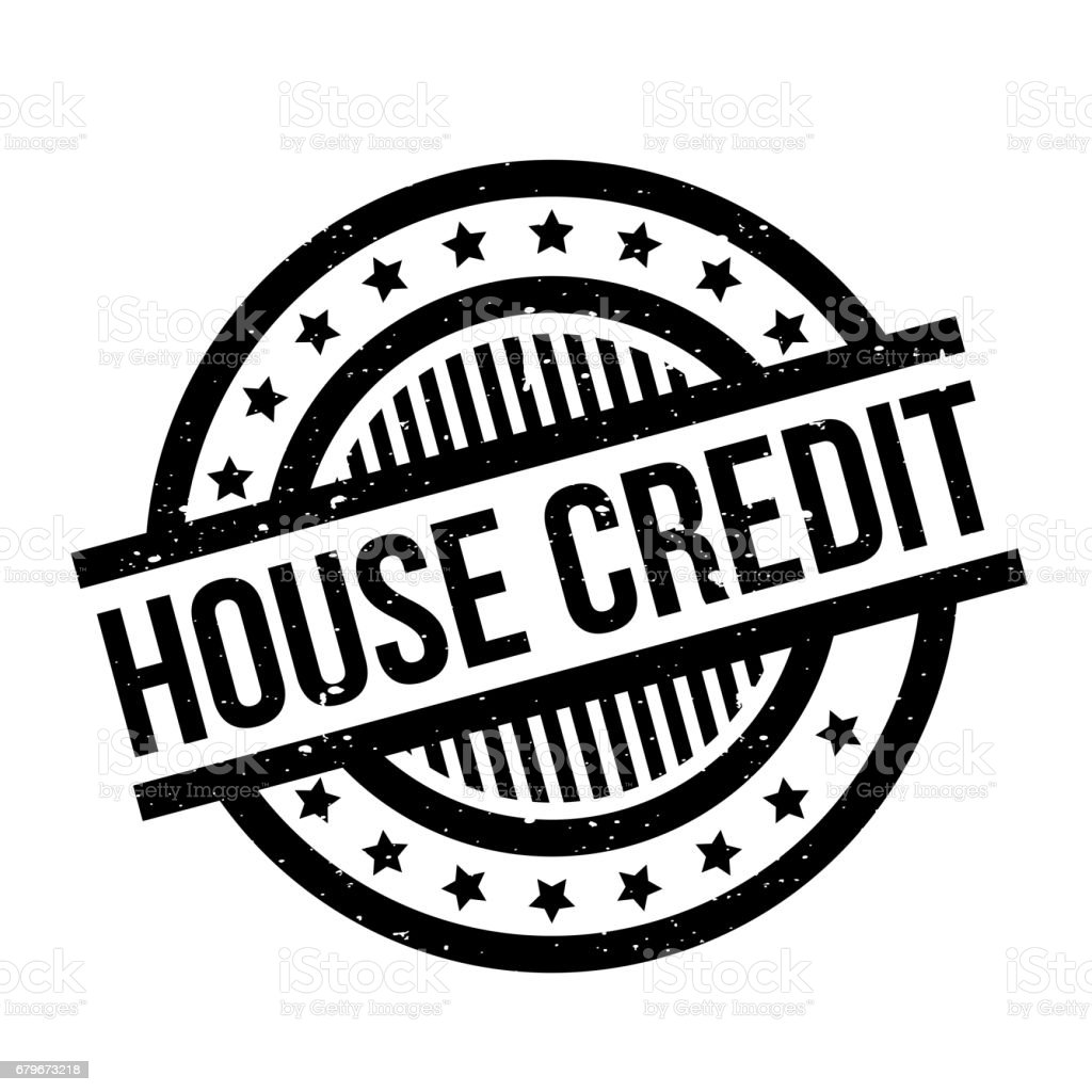 House Credit rubber stamp vector art illustration