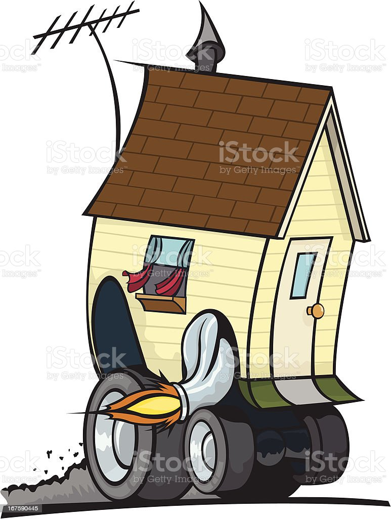 House Driving or Moving royalty-free stock vector art