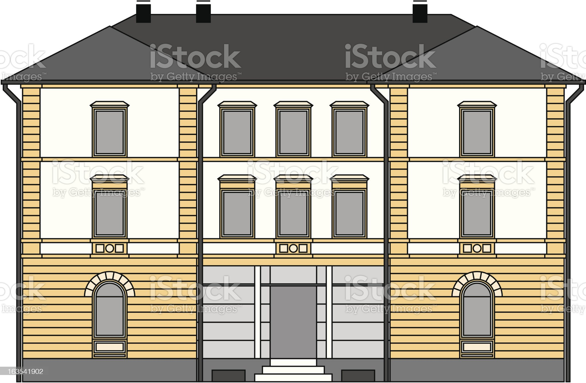 house (vector) royalty-free stock vector art